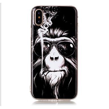 Недорогие Кейсы для iPhone 5с-Кейс для Назначение Apple iPhone X / iPhone 8 Pluss / iPhone 8 С узором Кейс на заднюю панель Животное Мягкий ТПУ