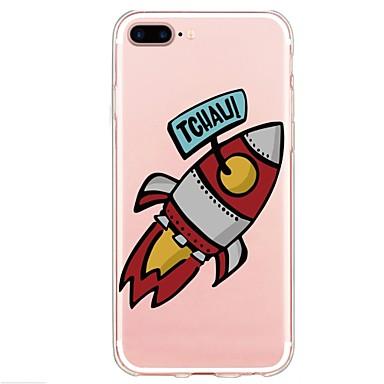 voordelige iPhone 5 hoesjes-hoesje Voor Apple iPhone X / iPhone 8 Plus / iPhone 8 Patroon Achterkant Spelen met Apple-logo / Woord / tekst / Cartoon Zacht TPU