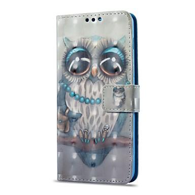 Недорогие Чехлы и кейсы для Galaxy А-Кейс для Назначение SSamsung Galaxy A8 2018 / A8+ 2018 Бумажник для карт / со стендом / Флип Чехол Сова Твердый Кожа PU