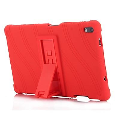 Недорогие Чехол для планшета Lenovo-Кейс для Назначение Lenovo Lenovo Tab 4 8 Plus со стендом Кейс на заднюю панель Однотонный / Полоски / Рисунок Мягкий Силикон