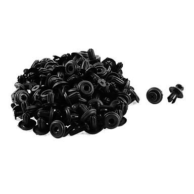 olcso Kütyük és autóalkatrészek-50 db 14 x 6 mm-es fekete műanyag lökhárító sárvédő bélés tolókaros rögzítő szegecs