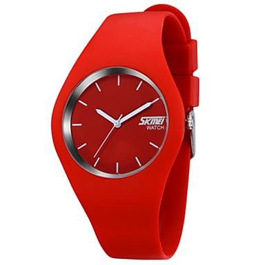 رخيصةأون ساعات الرجال-SKMEI الزوجين ساعة رياضية كوارتز سيليكون أسود / الأبيض / أزرق 30 m مقاوم للماء رزنامه ساعة كاجوال مماثل كاجوال موضة غني بالألوان - أسود-أحمر أحمر زهري