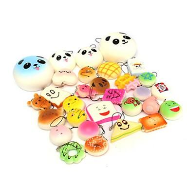 tanie Odstersowywacze-LT.Squishies Zabawki do ściskania Jedzenie i picie Panda Przeciwe stresowi i niepokojom Zabawki biurkowe Nowość 10 pcs Moda Unisex Dla chłopców Dla dziewczynek Zabawki Prezent