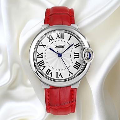 رخيصةأون ساعات النساء-SKMEI نسائي ساعة رياضية رقمي جلد طبيعي أسود / الأبيض / أحمر 30 m مقاوم للماء رزنامه ساعة كاجوال مماثل سيدات ترف كاجوال موضة - أسود كوفي أحمر / طرد كبير