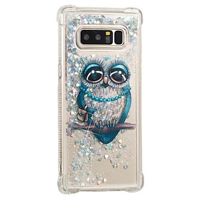 voordelige Galaxy Note-serie hoesjes / covers-hoesje Voor Samsung Galaxy Note 8 Schokbestendig / Stromende vloeistof / Patroon Achterkant Uil Zacht TPU