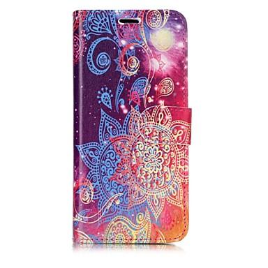 povoljno Maske/futrole za Galaxy S seriju-Θήκη Za Samsung Galaxy S8 Plus / S8 / S7 edge Novčanik / Utor za kartice / Zaokret Korice Mandala Tvrdo PU koža