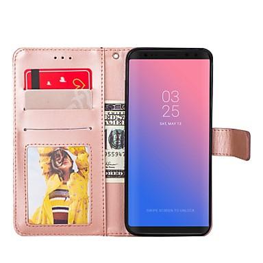 Недорогие Чехол Samsung-Кейс для Назначение Samsung S8 Plus / S8 / S7 edge Кошелек / Бумажник для карт / со стендом Чехол Однотонный Твердый Кожа PU