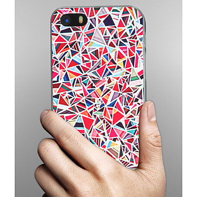 Недорогие Кейсы для iPhone 5с-Кейс для Назначение Apple iPhone X / iPhone 8 Pluss / iPhone 8 С узором Кейс на заднюю панель Геометрический рисунок Твердый ПК
