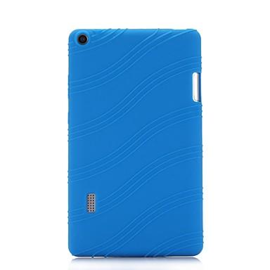 Недорогие Чехлы и чехлы-Кейс для Назначение HUAWEI Huawei MediaPad T3 7.0 со стендом Кейс на заднюю панель Однотонный / Полоски Мягкий Силикон
