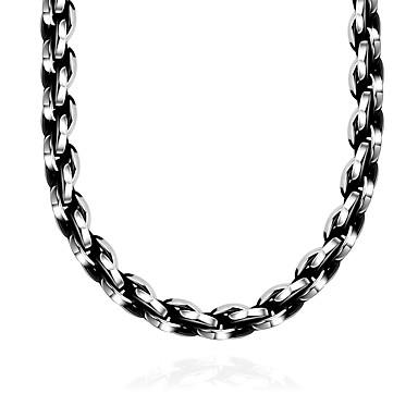 Недорогие Ожерелья-Муж. Воротничок геометрический Мода Нержавеющая сталь Серебряный Ожерелье Бижутерия 1 Назначение Подарок Повседневные