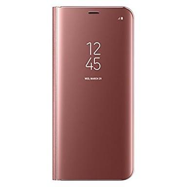 Недорогие Чехлы и кейсы для Galaxy S-Кейс для Назначение SSamsung Galaxy S8 Plus / S8 со стендом / Флип Чехол Однотонный Твердый Кожа PU