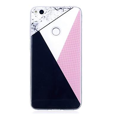 voordelige Huawei Y-serie hoesjes / covers-hoesje Voor Huawei IMD / Patroon Geometrisch patroon / Marmer Zacht