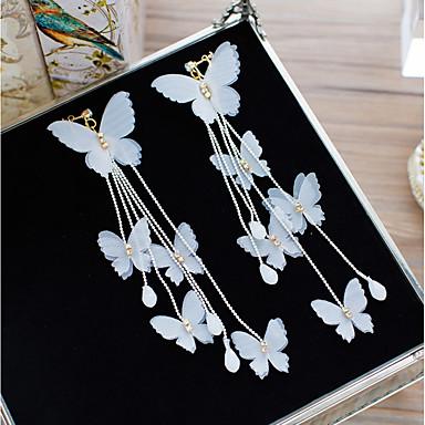 olcso Klipsz fülbevalók-Női Kristály Klipszes fülbevalók Virág Csokornyakkendő Elegáns Fülbevaló Ékszerek Fehér Kompatibilitás Esküvő Szabadság 1