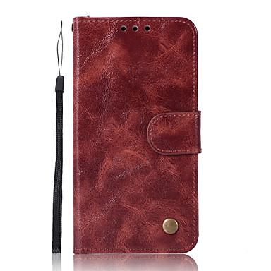 Недорогие Чехлы и кейсы для Xiaomi-Кейс для Назначение Xiaomi Xiaomi Redmi Note 4X / Xiaomi Redmi Note 4 / Redmi 5A Кошелек / Бумажник для карт / со стендом Чехол Однотонный Твердый Кожа PU / Xiaomi Redmi 4a / Xiaomi Mi 6