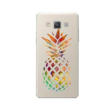 رخيصةأون حافظات / جرابات هواتف جالكسي A-غطاء من أجل Samsung Galaxy A3 (2017) / A5 (2017) / A7 (2017) نموذج غطاء خلفي كارتون / فاكهة ناعم TPU