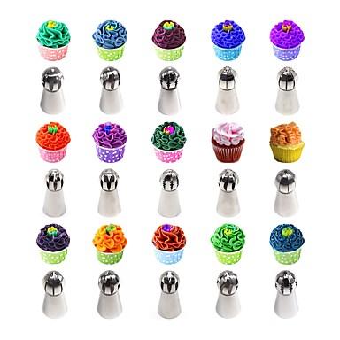رخيصةأون أدوات الفرن-عدد 30 من القطع سبائك الألومنيوم أداة الخبز المطبخ الإبداعية أداة كعكة لأواني الطبخ لكعكة قوالب الكيك أدوات خبز