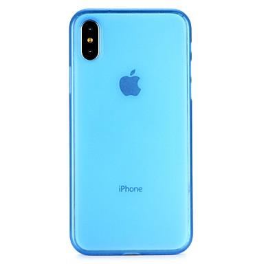 billiga Fodral till iPhone 6 Plus-fodral Till Apple iPhone X / iPhone 8 Plus / iPhone 8 Genomskinlig Fodral Enfärgad Mjukt PC
