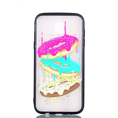 voordelige Galaxy J-serie hoesjes / covers-hoesje Voor Samsung Galaxy J7 (2017) / J5 (2017) / J3 (2017) Transparant / Reliëfopdruk / Patroon Achterkant Voedsel Hard PC