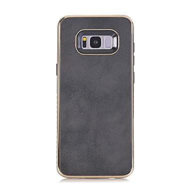 voordelige Galaxy S-serie hoesjes / covers-hoesje Voor Samsung Galaxy S8 Plus / S8 / S7 edge Reliëfopdruk Achterkant Effen Zacht PU-nahka