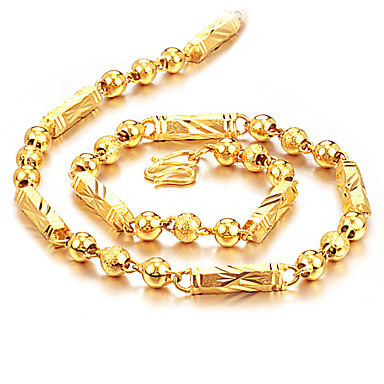 Heren Kettingen Bal Baht Chain Rock Modieus Hip-hop Titanium Staal Verguld Titanium Goud Kettingen Sieraden Voor Dagelijks Straat