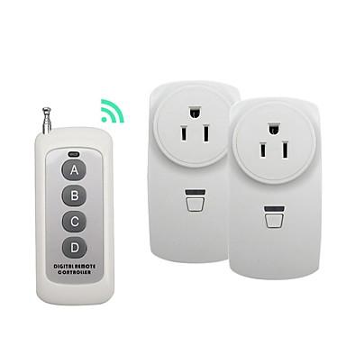 رخيصةأون Smart Plug-broadlink 1 إلى 2 لنا المكونات اللاسلكية rf التحكم عن بعد التبديل للاستخدام المنزل الذكي مع rm الموالية