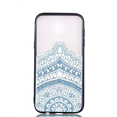voordelige Galaxy J-serie hoesjes / covers-hoesje Voor Samsung Galaxy J7 (2017) / J5 (2017) / J3 (2017) Transparant / Reliëfopdruk / Patroon Achterkant Mandala Hard PC