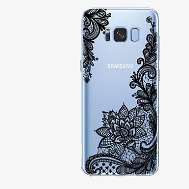 رخيصةأون حافظات / جرابات هواتف جالكسي S-غطاء من أجل Samsung Galaxy S8 Plus / S8 / S7 edge نموذج غطاء خلفي الطباعة الدانتيل ناعم TPU