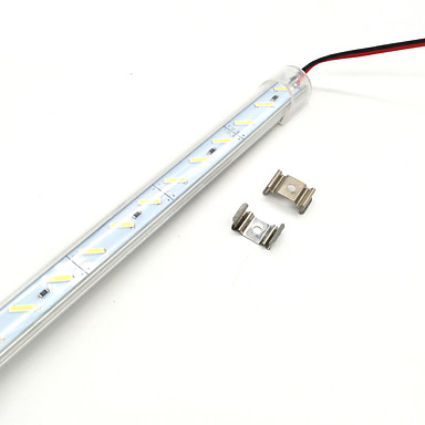 olcso Akciók-zdm 100cm 72 x 8520 smd LED-ek szuper fényes kemény lámpacsíkok meleg fehér / hideg fehér átlátszó maszk sűrített alumínium héj dc12 v