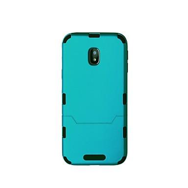 voordelige Galaxy J-serie hoesjes / covers-hoesje Voor Samsung J3 Pro / J3 Prime Schokbestendig Achterkant Effen Hard Muovi