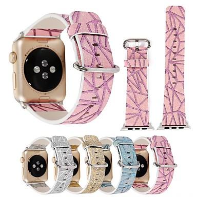 Недорогие Аксессуары для смарт-часов-Ремешок для часов для Серия Apple Watch 5/4/3/2/1 / Apple Watch Series 4 Apple Классическая застежка Натуральная кожа Повязка на запястье