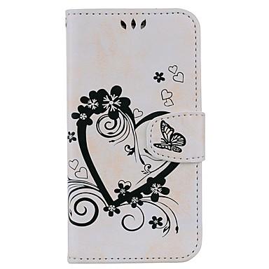 رخيصةأون حافظات / جرابات هواتف جالكسي J-غطاء من أجل Samsung Galaxy J7 (2017) / J5 (2017) / J5 (2016) حامل البطاقات / مع حامل / قلب غطاء كامل للجسم قلب قاسي جلد PU