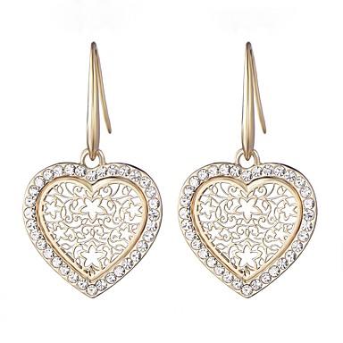 Women S Drop Earrings Rhinestone Simple Fashion Imitation Diamond Alloy Heart Jewelry Daily Costume 6507351 2018 6 49