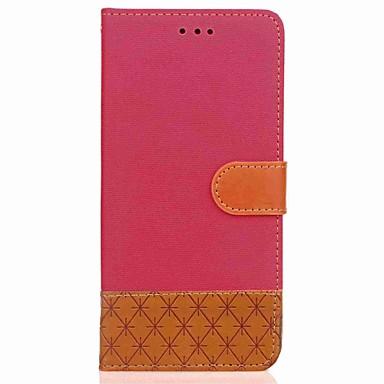 voordelige Galaxy Note 5 Hoesjes / covers-hoesje Voor Samsung Galaxy Note 8 / Note 5 / Note 4 Portemonnee / Kaarthouder / met standaard Volledig hoesje Geometrisch patroon Hard tekstiili