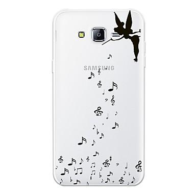 voordelige Galaxy J-serie hoesjes / covers-hoesje Voor Samsung Galaxy J7 (2017) / J7 (2016) / J7 Patroon Achterkant Sexy dame / Cartoon Zacht TPU