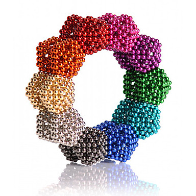 cheap Special Deals-216/512/1000 pcs 5mm Magnet Toy Magnetic Balls Building Blocks Super Strong Rare-Earth Magnets Neodymium Magnet Neodymium Magnet Classic & Timeless Stress and Anxiety Relief Office Desk Toys DIY