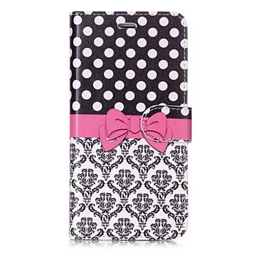 Недорогие Кейсы для iPhone X-Кейс для Назначение Apple iPhone X / iPhone 8 Pluss / iPhone 8 Кошелек / Бумажник для карт / Флип Чехол Плитка / Кружева Печать Твердый Кожа PU