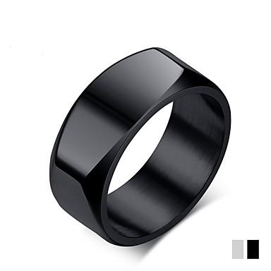 olcso Gyűrűk-Férfi Band Ring Titán Matt fekete Titánium Acél Circle Shape Klasszikus Divat Esküvő Parti Ékszerek
