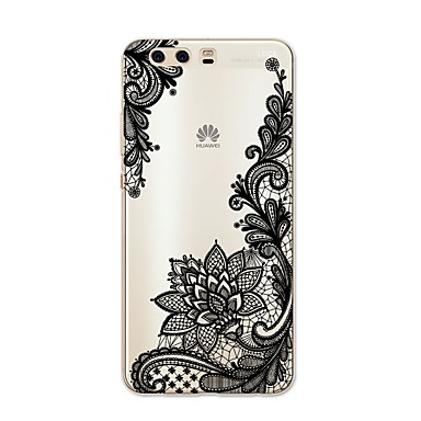 voordelige Huawei Mate hoesjes / covers-hoesje Voor Huawei P9 / Huawei P9 Lite / Huawei P8 P10 Plus / P10 Lite / P10 Patroon Achterkant Lace Printing Zacht TPU / Huawei P9 Plus