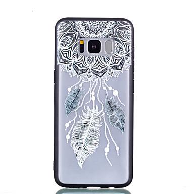 voordelige Galaxy S-serie hoesjes / covers-hoesje Voor Samsung Galaxy S8 Plus / S8 Transparant / Reliëfopdruk / Patroon Achterkant Dromenvanger / Veren Hard PC