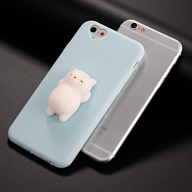 voordelige iPhone-hoesjes-hoesje Voor Apple iPhone X / iPhone 8 Plus / iPhone 8 DHZ / squishy Achterkant Kat / 3D Cartoon Zacht Siliconen