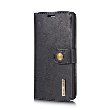 رخيصةأون LG أغطية / كفرات-غطاء من أجل LG LG V30 / LG G6 حامل البطاقات / مع حامل / قلب غطاء كامل للجسم لون سادة قاسي جلد PU