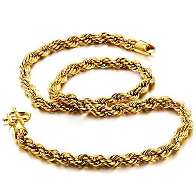 voordelige Heren Ketting-Heren Kettingen Vossestaart ketting Dookie Chain Mariner Chain Rock Modieus Hip-hop Dubai Titanium Staal Verguld Titanium Goud Kettingen Sieraden Voor Dagelijks Straat