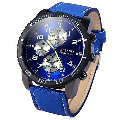 رخيصةأون ساعات الرجال-JUBAOLI رجالي ساعة المعصم كوارتز المتضخم ستانلس ستيل أسود / أزرق / أحمر كوول طرد كبير مماثل أسود أزرق داكن أحمر