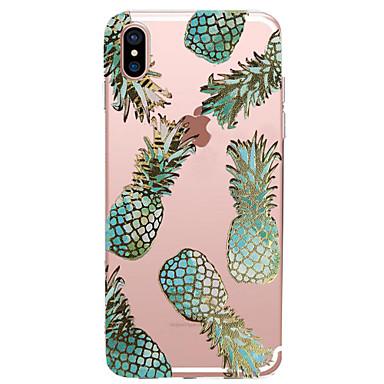 voordelige iPhone-hoesjes-hoesje Voor Apple iPhone X / iPhone 8 Plus / iPhone 8 Transparant / Patroon Achterkant Voedsel / Fruit Zacht TPU