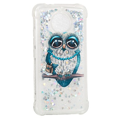 cheap Motorola Case-Case For Motorola Moto G5s / Moto E4 Shockproof / Flowing Liquid / Pattern Back Cover Owl Soft TPU
