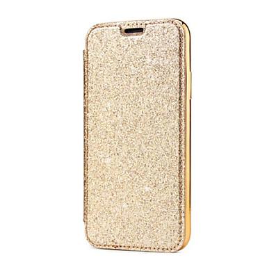 voordelige iPhone-hoesjes-hoesje Voor Apple iPhone X / iPhone 8 Plus / iPhone 8 Kaarthouder / Beplating Volledig hoesje Effen Hard PU-nahka