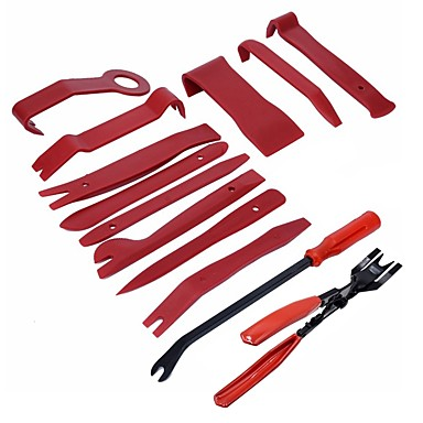 abordables Outils de Réparation-Ziqiao 13 pcs en plastique voiture auto porte intérieur garniture panneau de retrait clip pry barre ouverte kit d'outils de haute qualité