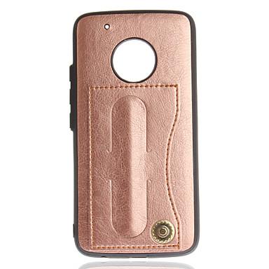 رخيصةأون Motorola أغطية / كفرات-غطاء من أجل موتورولا حامل البطاقات / مع حامل لون سادة قاسي