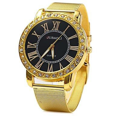 رخيصةأون ساعات النساء-JUBAOLI نسائي ساعة المعصم كوارتز أخضر / ذهبي تقليد الماس مماثل سيدات مضيئ - أبيض أسود