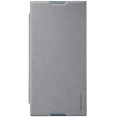 Недорогие Чехлы и кейсы для Sony-Кейс для Назначение Sony Xperia XZ1 Compact / Sony Xperia XZ1 / Xperia XA1 Plus Бумажник для карт / Флип / Матовое Чехол Однотонный Твердый Кожа PU